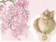 イラスト/絵画「淡い藤の花と」壁紙1920x1344 - 壁紙館