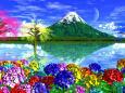 多彩紫陽花群生