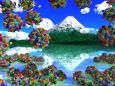 浮遊する紫陽花の群生