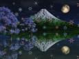 満月の夜に降る雪の結晶