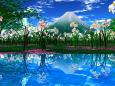 水辺際の水仙群