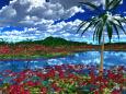 彼岸花群生地の島