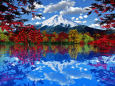 秋の富士景色