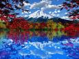 3dcg 秋の富士景色 壁紙1920x1200 壁紙館