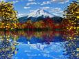 イチョウ大樹と富士山