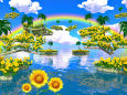 ヒマワリの島群