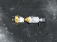 月周回軌道上のアポロ11号