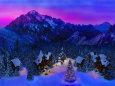 イラスト 絵画 アルプスの谷のクリスマス 壁紙1920x1280 壁紙館
