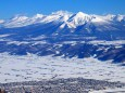 白銀の十勝岳連峰