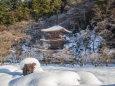 雪の金剛院三重塔