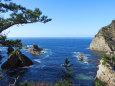 山陰海岸-穏やかな早春の海2
