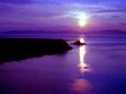 礼文島に沈む夕日