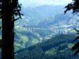 山道から見えたおぼろ大橋