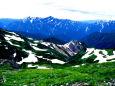 白馬岳からの立山と剱岳