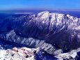 槍ヶ岳から笠ヶ岳と白山を望む②