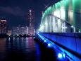 勝ち鬨橋夜景