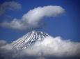 雲より顔を出し(富士山)