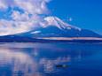 冬富士 山中湖から