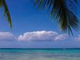 グアムの空と海