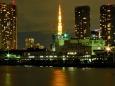 築地市場と東京タワー