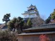 二の丸茶室と掛川城