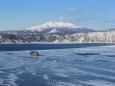摩周湖と斜里岳