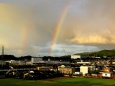 夜明けの虹