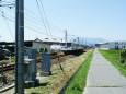 松本の中央を走る鉄道