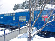能登中島駅に保存の鉄道郵便車