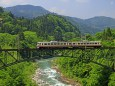 常願寺川を渡る富山地鉄車