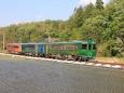 水田を走る観光列車
